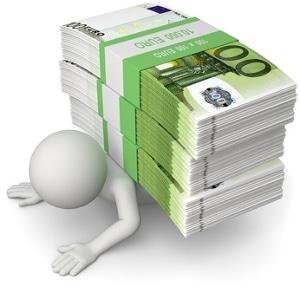 Sind die Schulden zu erdrückend, kann im Ablauf der Schuldnerberatung auch die Beantragung der Privatinsolvenz vorgesehen sein.