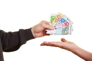 Insolvenzverfahren: An die Gläubiger erfolgt eine Auszahlung durch den Insolvenzverwalter.