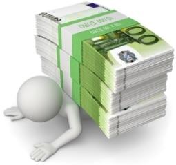 Erdrückende Schulden? Die Privatinsolvenz kann bei Hartz-4-Bezug ein Ausweg sein.