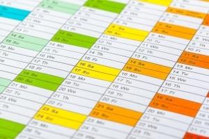 Der Zeitraum kann beim Privatkonkurs je nach Entschuldungsmethode variieren.